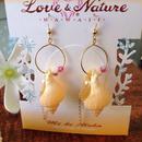 Love & Nature Hawaii/14K Gf シェル&淡水パール&スワロブスキーピアス