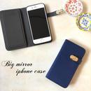 ミラー付 手帳型 iPhone 5 5s SE 6 6s 6/6splus 7 7plus 8 8plus X ケース N