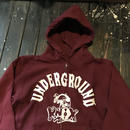 5656WORKINGS/UNDERGROUND KNOX ZIP PAKAR_BURGUNDY