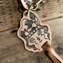 YUMYUM-INDIAN LEATHER KEY HOLDER_NUMExGOLD