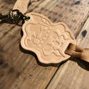 YUMYUM-INDIAN LEATHER KEY HOLDER_NUME(型押し)