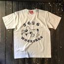 5656WORKINGS/BEAN TEE_WHITE
