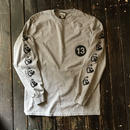 NOCARE/TEAM13 LONG SLEEVE POCKET TEE'S_GRAY