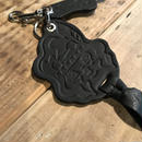 YUMYUM-INDIAN LEATHER KEY HOLDER_BK(型押し)