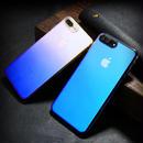 [KS091] ★ iPhone 6 / 6Plus / 7 / 7Plus ★ シェル型 クリア ケース オーロラ グラデーション ピンク ブルー ゴールド パープルグレー シンプル