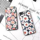 [KS002]★ iPhone 6 / 6Plus / 7 / 7Plus ★ シェル型 ケース (ピンク ホワイト ) 可憐な マーガレット フラワー 小花模様 花柄 かわいい iPhone ケース