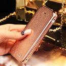 【TH002】 ★ iPhone 6 ★ キラキラ バンパー カバー付 ライン ストーン 4色 ( シャンパン ゴールド ホワイト ピンク ) おしゃれ 高級 かわいい