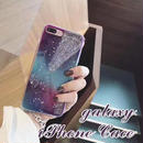 [NW128]  ★ iPhone 6 / 6s / 6Plus / 6sPlus / 7 / 7Plus ★ シェルカバー ケース ギャラクシー 銀河 宇宙 流れ星