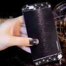 【EU016】 ★ iPhone6 ★ キラキラストーン&チャーム付 メタルハードケース(ブラック / ゴールド / レッド / シルバー )メタル 高級感 きらきら かわいい かっこいい 大人