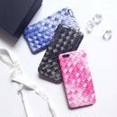 【HY014】★ iPhone 6 / iPhone 6 plus ★  iPhoneケース ( ブラック ブルー ピンク )  グラデーション 編みこみ おしゃれ かわいい 大人 シンプル