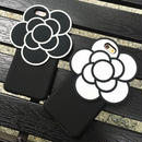 【HY004】★ iPhone 6 / iPhone 6 plus ★ ビッグカメリア ハードケース ( ブラック ホワイト ) 花 おしゃれ かわいい 大人 シンプル