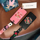 [NW332]  ★ iPhone 6 / 6s / 6Plus / 6sPlus / 7 / 7Plus / 8 / 8Plus ★ シェルカバー フラワー バラ 五芒星 スター 刺繍