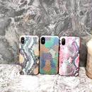 [MD255] ★ iPhone 6 / 6s / 6Plus / 6sPlus / 7 / 7Plus / 8 / 8Plus / X ★ シェルカバー ケース パイソン カラフル スネーク