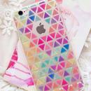 【HY034】★ iPhone 6 / 6s ★ iPhoneケース レインボーカラー トライアングル タイル シンプル かわいい 大人 オシャレ キレイ