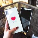 [MD358] ★ iPhone 7 / 7Plus / 8 / 8Plus / X ★ シェルカバー ケース ハート スクエア シンプル 可愛い
