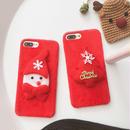 [NW486] ★ iPhone 6 / 6s / 6Plus / 6sPlus / 7 / 7Plus / 8 / 8Plus / X ★ シェルカバー ケース クリスマス サンタ ツリー レッド