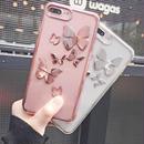 [NW287]  ★ iPhone 6 / 6s / 6Plus / 6sPlus / 7 / 7Plus ★ シェルカバー ケース バタフライ 蝶 メタル 立体 幻想的