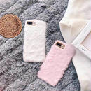 [MD247] ★ iPhone 6 / 6s / 6Plus / 6sPlus / 7 / 7Plus / 8 / 8Plus / X ★ シェルカバー ケース ふわふわ パステル 可愛い