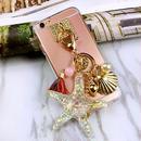 【HY045】★ iPhone 6 / iPhone 6 plus ★ iPhoneケース スター フィッシュ チャーム おしゃれ 大人 シンプル かわいい 上品