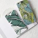 [NW271] ★ iPhone 6 / 6s / 6Plus / 6sPlus / 7 / 7Plus / 8 / 8Plus ★ シェルカバー ケース ボタニカル リーフ グリーン 植物
