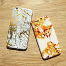 [KS028]★ iPhone 6 / 6Plus / 7 / 7Plus ★  シェル型 ケース ゴールド エレガント 高級感 大理石 マーブル模様 iPhoneケース