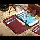 【EU025】★ iPhone6/6plus ★ レザー風 型押し 手帳タイプ( レッド / ベージュ / キャメル / ブラウン / ブラック )かっこいい かわいい 大人 個性的 ストラップ付き カードホルダー 二つ折り