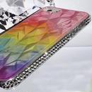 【TH043】★ iPhon 5 / 5s ★  ダイヤモンド カット キラキラ スワロ ( ブルー スター ダスト パステル レインボウ クリア パープル クリア ピンク ) かわいい おしゃれ きらきら ライン ストーン