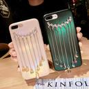 [KS105] ★ iPhone 6 / 6Plus / 7 / 7Plus ★シェル型 ケース グリーン ホワイト ベージュ きらきら ドロップ クリスタル ペンダント iPhone ケース