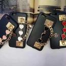 【MT095】iPhone6/6s/6Plus/6sPlus ハートブレスレット ブラック iPhoneケース かわいい シンプル おしゃれ