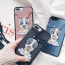 [MD0128] ★ iPhone 6 / 6s / 6Plus / 6sPlus / 7 / 7Plus / 8 / 8Plus ★ シェルカバー ケース 犬 耳 個性的 可愛い