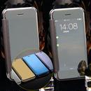 【MT086】iPhone6/6s/6Plus/6sPlus マジックミラー 鏡面仕上げ iPhoneケース 上品 きれい おりたたみ