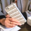 [KS194] ★ iPhone SE / 5 / 6 / 6Plus / 7 / 7Plus ★シェル型 ケース ブラック ホワイト きらきら ビジュー パール モノトーン iPhone ケース