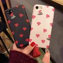 [KS156] ★ iPhone 6 / 6Plus / 7 / 7Plus ★シェル型 ケース ブラック ピンク かわいい キュート ダイヤモチーフ タッセル 星 アクセ iPhone ケース
