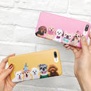 [NW178] ★ iPhone 6 / 6s / 6Plus / 6sPlus / 7 / 7Plus ★ シェルカバー ケース犬 わんちゃん 集合 イラスト iPhone ケース