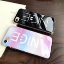[NW052]★ iPhone 6 / 6s / 6Plus / 6sPlus / 7 / 7Plus / 8 / 8Plus ★ シェルカバー ケース スマイル 虹  NICE レインボー