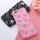 [KS141] ★ iPhone SE / 5 / 6 / 6Plus / 7 / 7Plus ★ シェル型 ケース 可憐 花柄 ハート レトロ ソフト TPU iPhone ケース