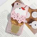 【HY013】★   iPhone SE iPhone 5 iPhone 6 / 6 plus ★ iPhoneケース ( ピンク ) アイスクリーム ミラー おしゃれ かわいい 個性的