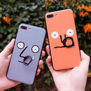 [KS124] ★ iPhone 6 / 6Plus / 7 / 7Plus ★ シェル型 ケース ユニーク 変顔 リング スタンド iPhone ケース
