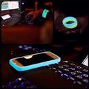 【MT096】iPhone6/6s/6Plus/6sPlus モバイル用 シリコンバンパーリング 蛍光 ブレスレット かっこいい 便利 おしゃれ