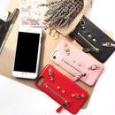 【AO057】★ iPhone6 / 6Plus / 6s / 6sPlus / 7 / 7Plus ★ ジッパーがポイント レザー調 iPhoneケース