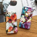 [KS113] ★ iPhone 6 / 6Plus / 7 / 7Plus ★ シェル型 ケース ステンドグラス 風 アート カラフル フラワー デザイン iPhone ケース