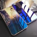 [KS097] ★ iPhone 6 / 6Plus / 7 / 7Plus ★ シェル型 ケース ブルーレイ ニュアンス アート 街 空 星 雲 光 影