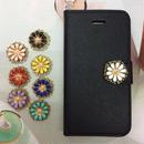 【MT035】【iPhoneSE】【iPhone5/5s】アンティクフラワー 手帳型ケース サフィアーノレザー  かわいい 上品
