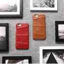 [MD141] ★ iPhone 7 / 7Plus / 8 / 8Plus ★シェルカバー ケース 本革 ステッチ シンプル シェルケース