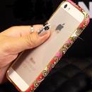 【TH012】★ iPhone 5 / 5s ★ アラビアン バンパー 3色 ( ピンク イエロー カラフル ) ゴージャス おしゃれ かわいい きらきら ライン ストーン