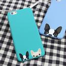 [KS147] ★ iPhone 6 / 6Plus ★ シェル型 ケース ブルー グリーン キュート ひょっこり ワンちゃん 犬 顔 かわいい iPhone ケース