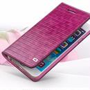 【AO021】★ iPhone7 ★ クロコダイル パープル ピンク 手帳型ケース かわいい 大人 人気