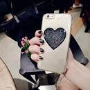 【AO024】★ iPhone6 / 6Plus / 6s / 6sPlus / 7 / 7Plus ★ きらきら ハート グリッター iPhoneケース おすすめ