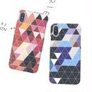[NW460]  ★ iPhone 7 / 7Plus  / 8 / 8Plus ★ シェルカバー ケース カラフル トライアングル 三角 幾何学 ジオメトリック