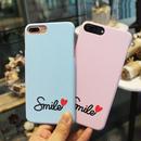 [KS120] ★ iPhone SE / 5 / 6 / 6Plus / 7 / 7Plus ★ シェル型 ケース ピンク ブルー グレー パステルカラー ストライプ スマイル iPhone ケース